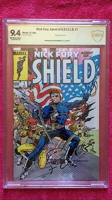 Nick Fury, Agent of SHIELD #1 signed by Jim Steranko CBCS 9.4