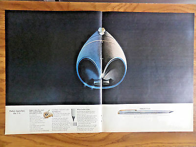 1970 Parker Pens Ad Parker Launches the T-1 Taken the Metal that's Going to Mars