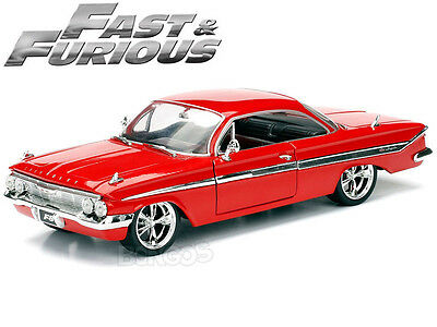 Fast & Furious - Dom's 1961 Chevy (Chevrolet) Impala 1:24 Scale Diecast Model