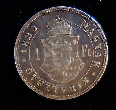 1883 Kb Hungary Forint Silver
