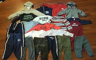 24 Month Baby Boys Fall/Winter Clothing Lot 19 Pieces