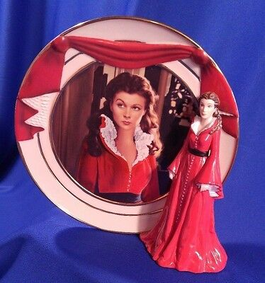 SMOLDERING PASSION Reflections of Scarlett Figure Plate Gone With Wind Bradford