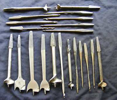 21 vintage assorted  augers etc straight from  grandads shed, used condition,