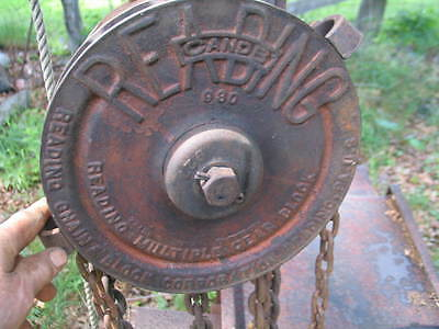 Heavy Duty Large Vintage Chain Fall 20 FT Lift Hoist