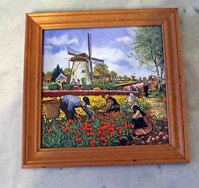 Decorative Hand Painted Tile Ter Steege Holland Framed