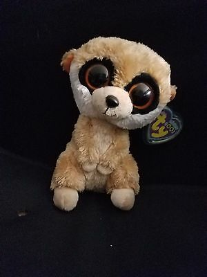 95c8730fe75 BEANIE BOO REBEL The Meerkat Mint Condition retired 6