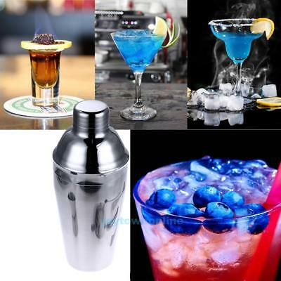 550ml Stainless Steel Cocktail Drink Cocktail Shaker Mixer Party Bar Drink