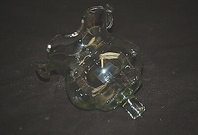 Old Vintage Homco Ruffled Clear Glass Peg Votive Cup Candle Holder w/o Grommet