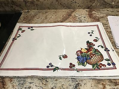 Longaberger Reversible Placemats-3 Sets of 2 in each package-new in original pac