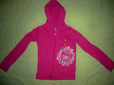 Childrens Place Girls*PINK light weight cotton Zip Up Hooded Jacket SIZE L 10-12