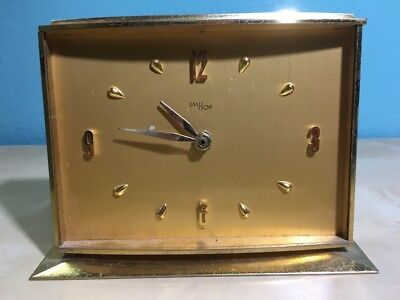 Vintage Imhof Clock Body - For Parts  - Heavy - Gold Color