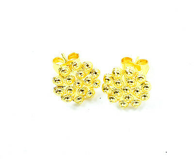 Gold Plated Earrings Studs Indian Asian Jewelry Ladies Wedding
