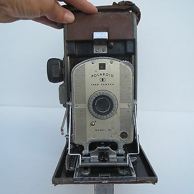 Vintage Polaroid Land Camera, 1950's or 1960's, Leather Case RARE, Early Model