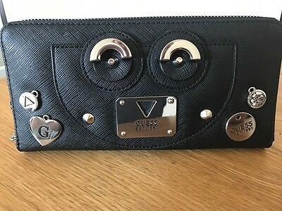 Ladies GUESS black wallet clutch brand new