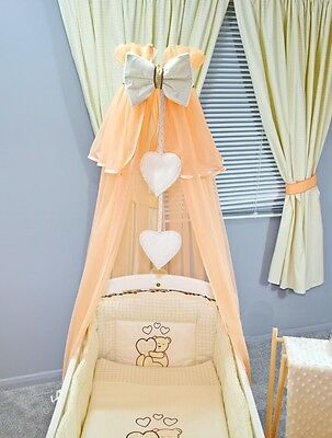 Lovely Baby Nursery Canopy Drape/ Holder Stand Rod 4 Baby Crib Cot Cotbed Cotbed