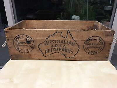 Vintage Australian Fruit Box - Original- With Rope Handles