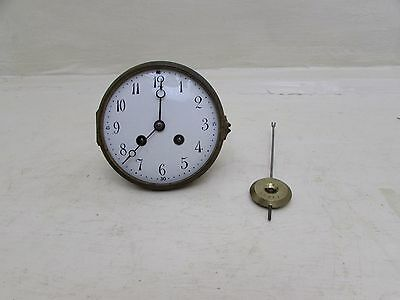 "Antique French Japy Freres Mantel Clock Movement For 4.75"" Opening"