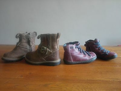 2 paires chaussures enfant taille 23 Camper  + Timberland
