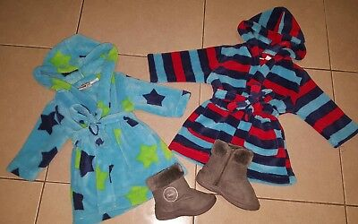 baby dressing gowns sz 0 sz 1 ugg boots sz 10