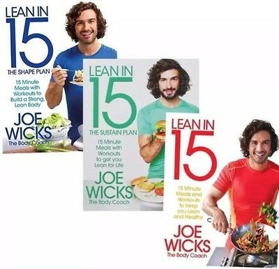 JOE WICKS *ALL THREE BOOKS* and 90 day eating Shift Shape and Sustain plan
