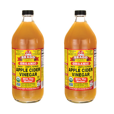 2 x Bragg Organic Apple Cider Vinegar with The 'Mother' 946ml