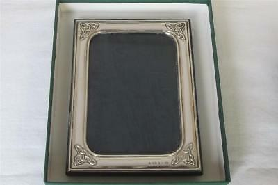 A Fine Boxed Sterling Silver The Celtic Knot Irish Photo Frame Dublin 1998.