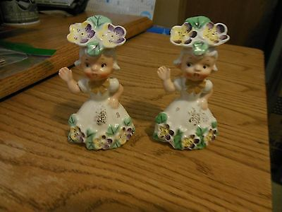 Vintage Napco Flower Girl of the Month May S&P Shakers