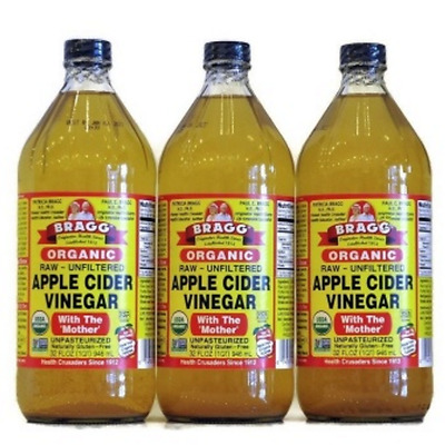 3 x Bragg Organic Apple Cider Vinegar with The 'Mother' 946ml