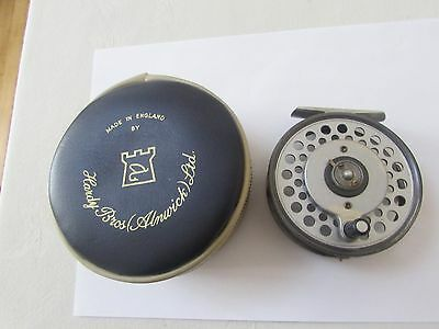 "good rare vintage hardy princess multiplier trout fly fishing reel 3.5"" + case"