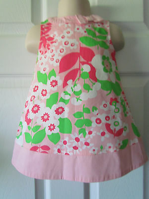 NWT Gymboree Pink White Floral Print Baby Toddler Girl Dress Size 6-12 Months