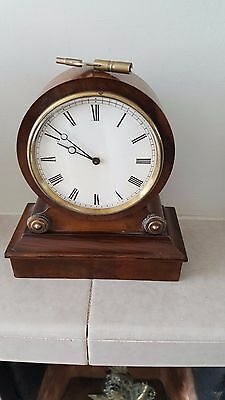 A Small 19Th Century French Rosewood Mantle Clock Stamped V A P S.g.d.g