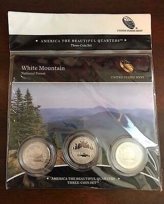 2013 America The Beautiful White Mountain 3 Coin Set In Mint Sealed Packaging