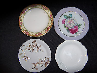 Vintage Lot Of 4 Different  Butter Pat Plates