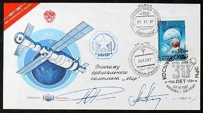 s400a) Space Mail 1. Weltraumpost No 0520 zur MIR Progress 33 - signiert Bolaffi