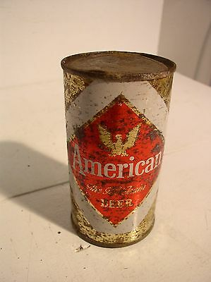 American Flat Top Beer Can