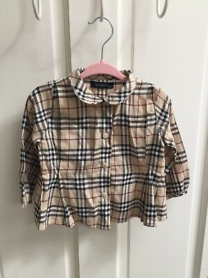 Girls Burberry Shirt 12 Months