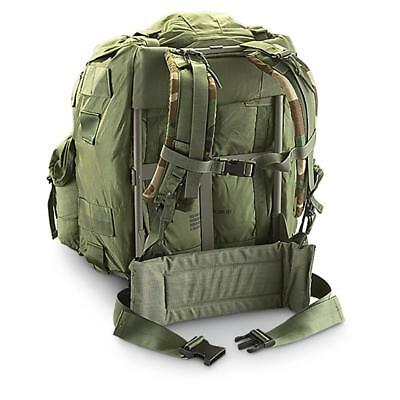 Alice Large OD green Back Pack US Army COMPLETE w/ FRAME & STRAPS and belt VG