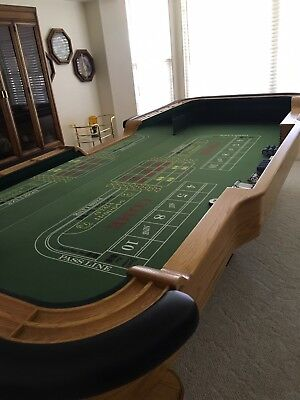 Custom Casino Style Full Size Craps Table - 18 Spot - Used - Good Condition