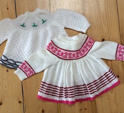 Vintage Baby Childrens Kids Clothes. Sweater / Cardigan / Dress / Jumper X 2