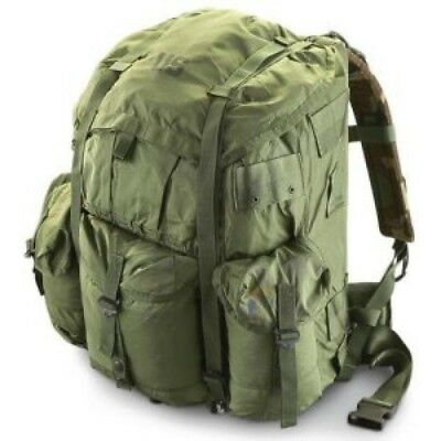 Alice Large Back Pack US Army OD GREEN COMPLETE w/ FRAME & STRAPS USED GOOD