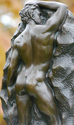 Erotic Male Nude Signed Pure Bronze Sculpture Genuine Hot Cast See My Items