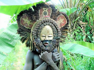 African Tribal - 3464 Rare Dan Deangle Celebration Dancer Mask, Cote D'ivoire