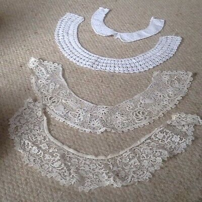 4 Vintage Lace Collars