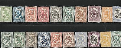 Suomi Finland Stamps 1917-30 Republic Helsinki Issues Mnh & Mh