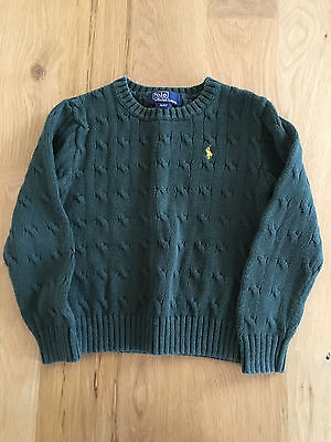 Polo by Ralph Lauren Cute Boys Green 100% Cotton Sweater (Size 4/4T)