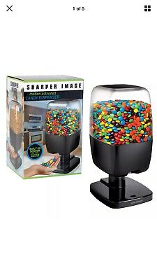 Sharper Image Motion Activated Candy Peanut Nut Dispenser Automatic Black