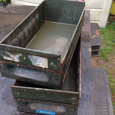 Vintage Industrial Metal Draws X2 More Available