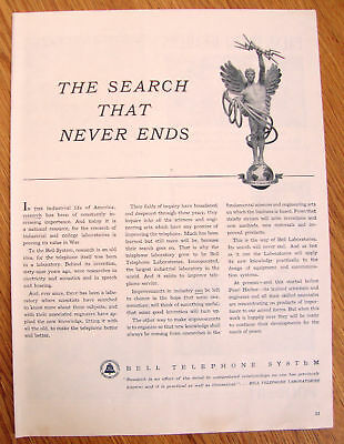 1944 Bell Telephone Ad   The Search That Never Ends