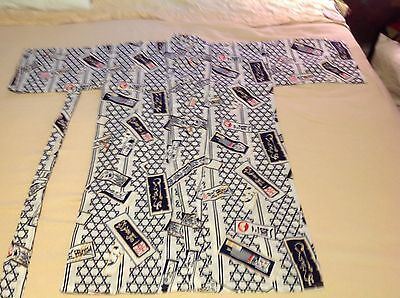 "Vintage Japanese Unisex 100% Cotton 42"" L Kimono Mabukyo Robe Made in Japan"