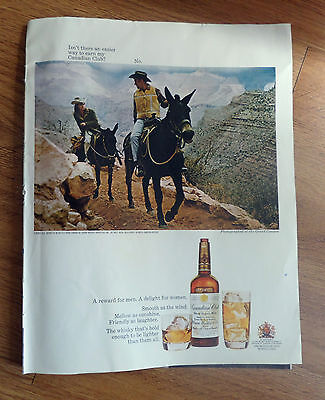 1968 Canadian Club Whiskey Ad Grand Canyon 1968 Camel Cigarette Ad Walk a Mile